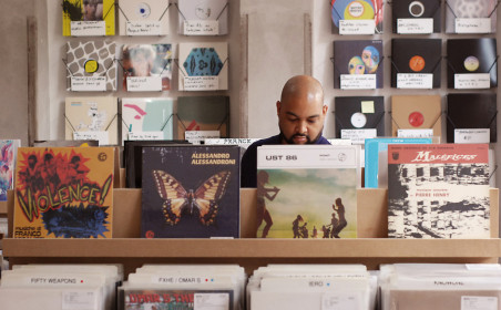 Clone Records pop-up store at Urbanears Hideout